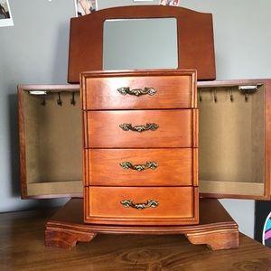 Storage & Organization - Wooden Jewelry Box